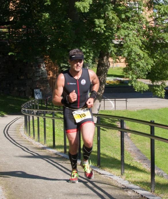 Triatleten ved første konkurranse